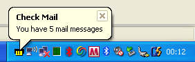 Cobra Check Mail - Email notification on your Windows taskbar