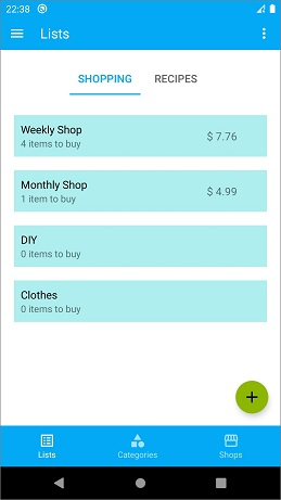 Go Shopping - list organizer for your devices